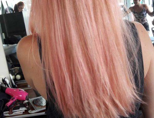 Coloration pastel rose