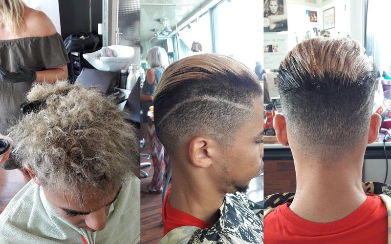 se lisser les cheveux homme