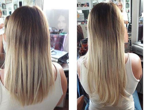 Cheveux longs avec extensions