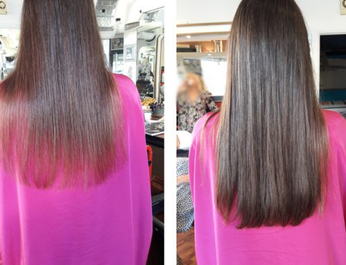 Extensions sur cheveux longs