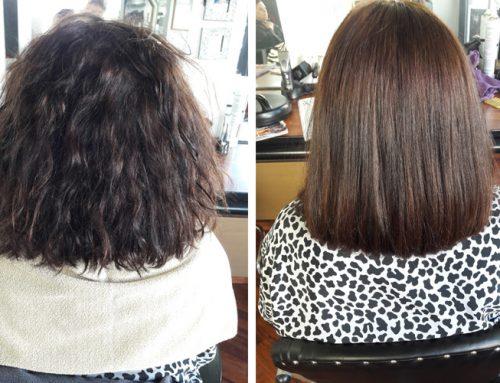 Lissage sur cheveux frisés