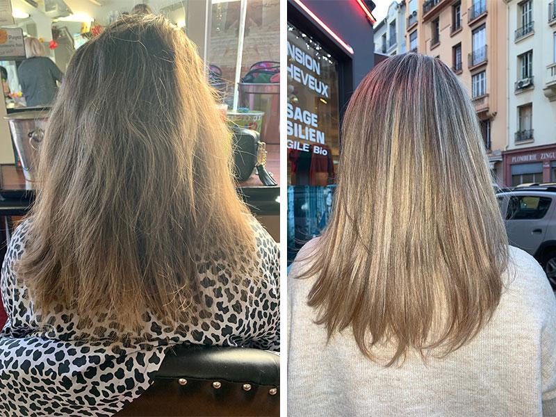Ombre hair avant après